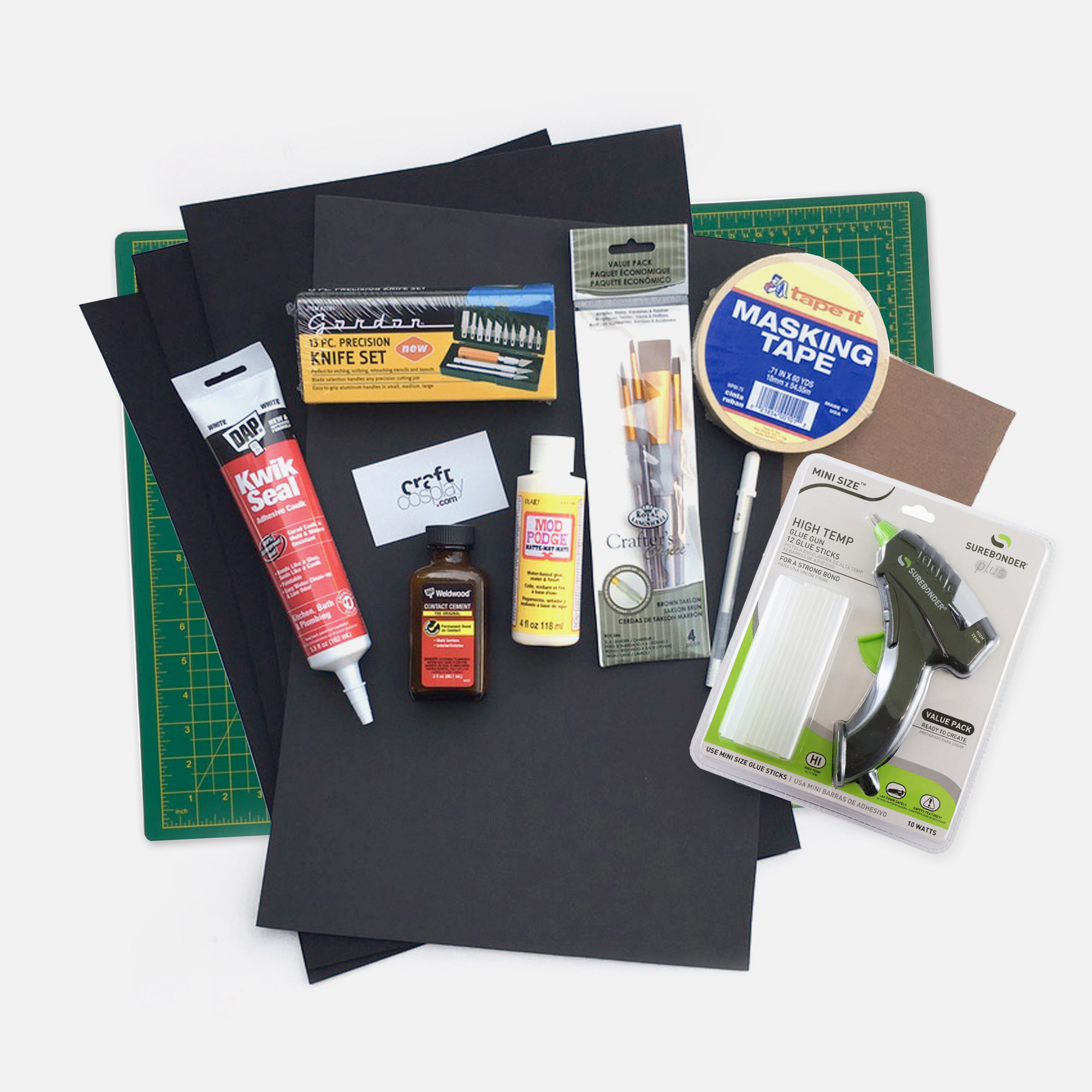 Kit Contents with Mat